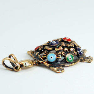 Jewelry - Hand made Aged copper necklace Turtle